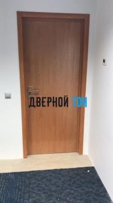 Пластиковая гладкая дверь Aquadoor миланский орех
