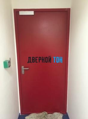 Металлическая противопожарная дверь Ei 60 RAL 3003